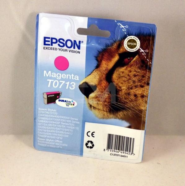Epson original Patrone T0713 Magenta (C13T07134011))