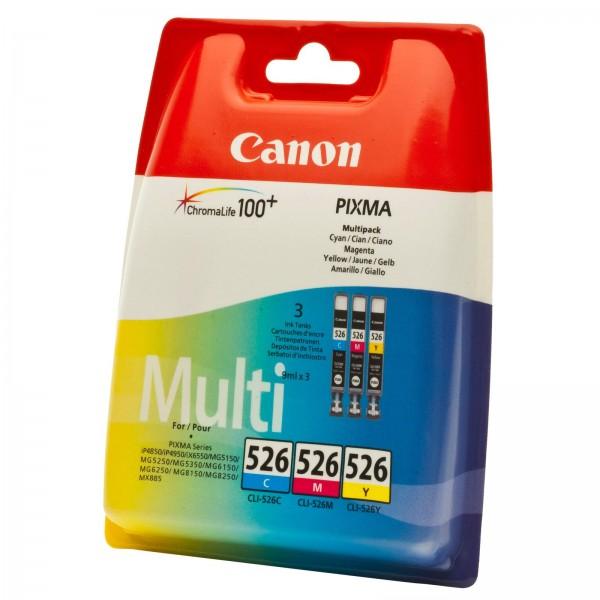Canon CLI-526 (C/M/Y) Multipack 3-farbig
