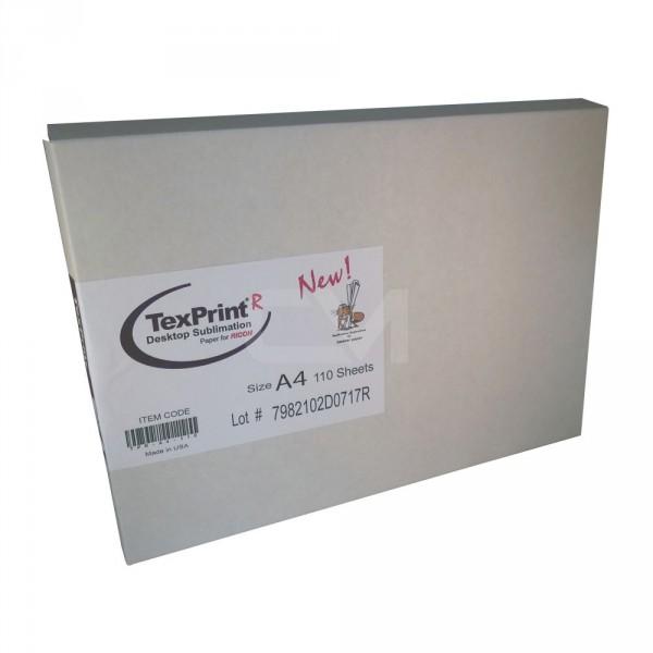 TexPrint R Sublimationspapier A4 für Ricoh (VE=110 Blatt)