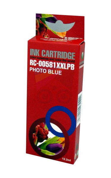 alternative Patrone zu Canon CLI581XXL Photo Blau