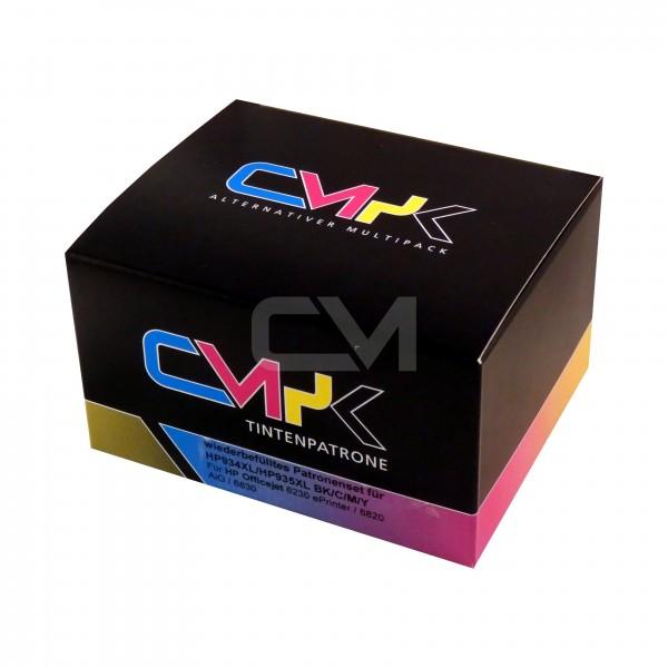 wiederbefülltes Patronenset für HP934XL/HP935XL BK/C/M/Y