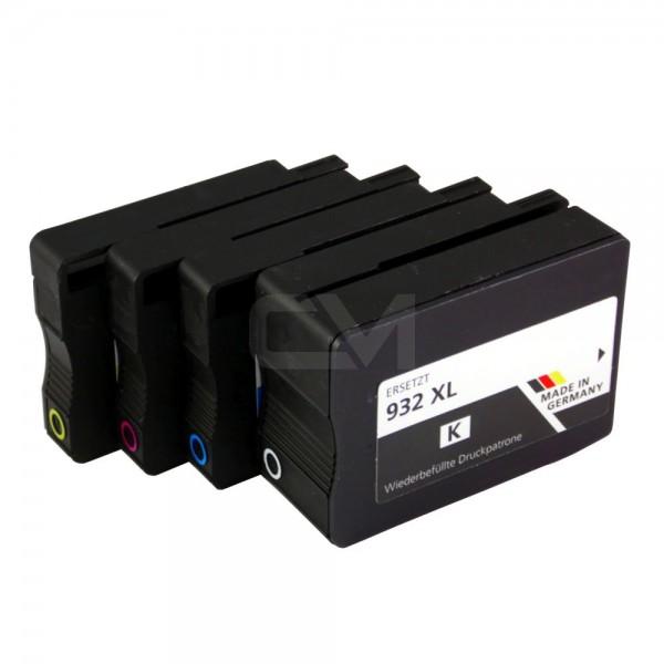 wiederbefülltes Patronenset für HP932XL/933XL BK/C/M/Y