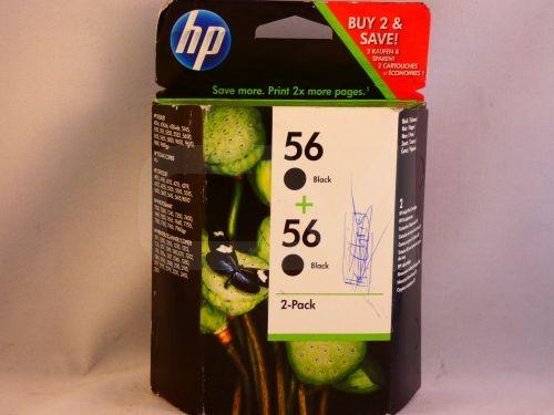 2x original HP Tintenpatrone HP56 Black -C9502AE- MHD überschritten