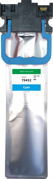 wiederaufbereitete Tintenpatrone zu Epson T9452 - Cyan